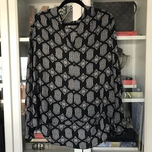 Rose & Olive Printed Blouse